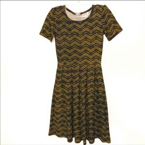 LulaRoe Amelia Dress Chevron Print